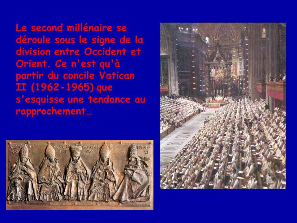 … avec la rencontre historique de Paul VI et Athénagoras, en 1964.