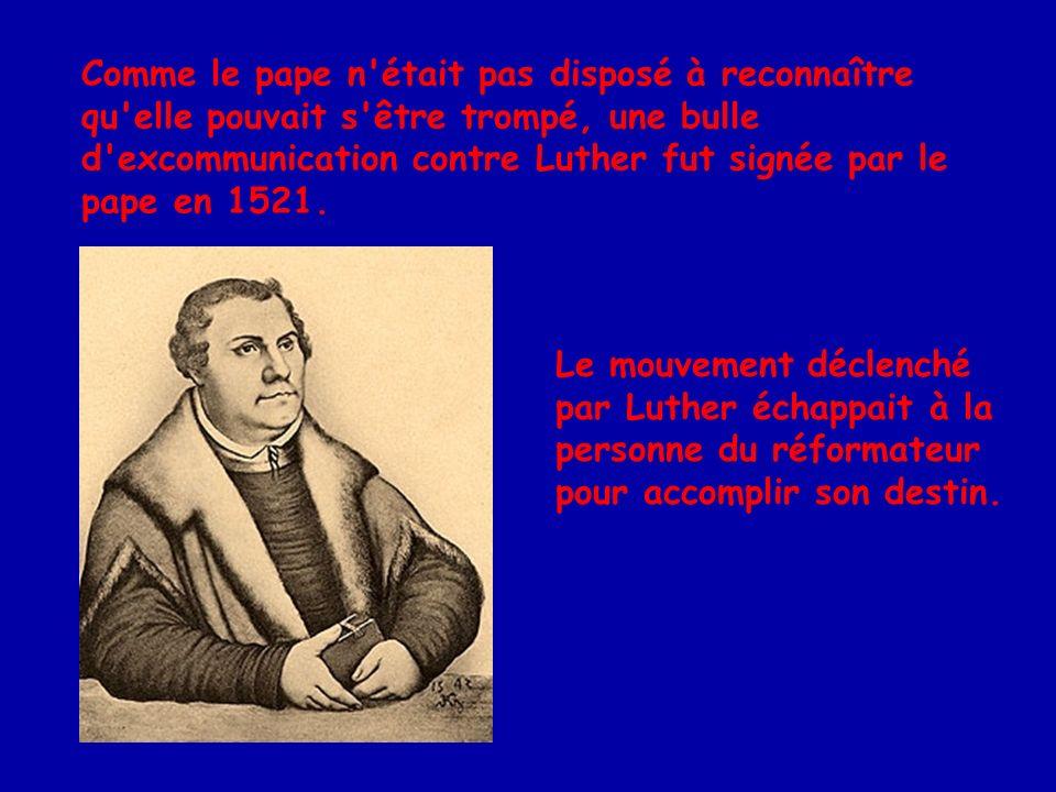 En 1535, Jean Calvin quitte la France pour la Suisse, qui avait accueilli favorablement les idées de la Réforme.