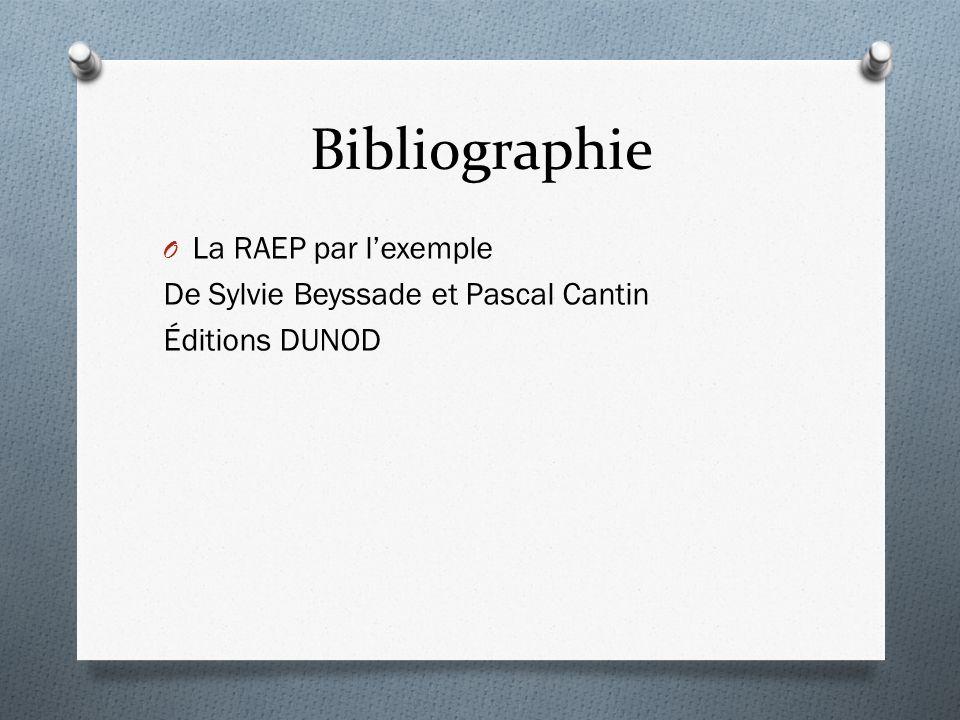 Bibliographie O La RAEP par lexemple De Sylvie Beyssade et Pascal Cantin Éditions DUNOD