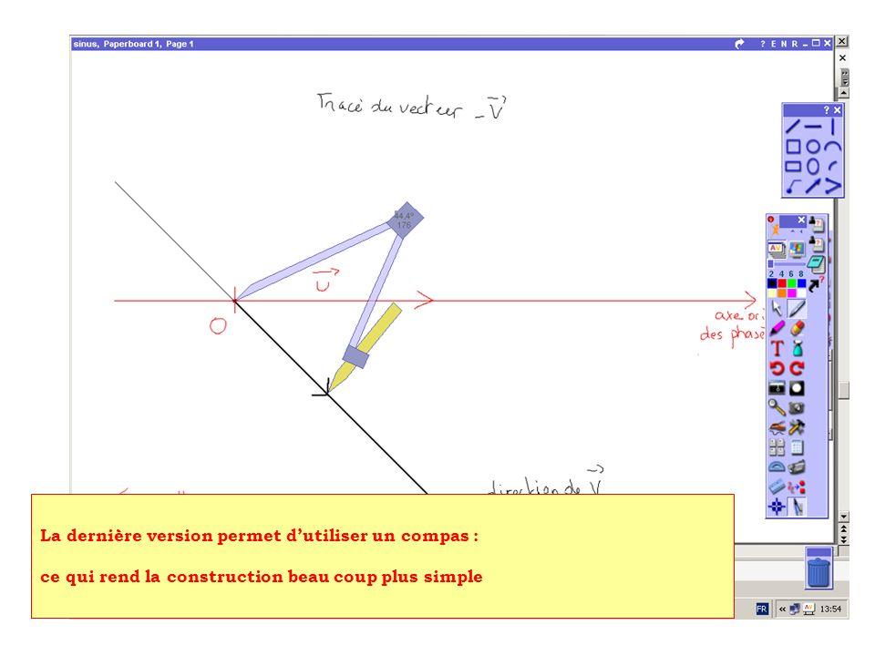 La dernière version permet dutiliser un compas : ce qui rend la construction beau coup plus simple