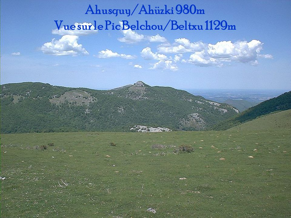 Pic de Béhorlégui 1265m Vu du village Behorlegui