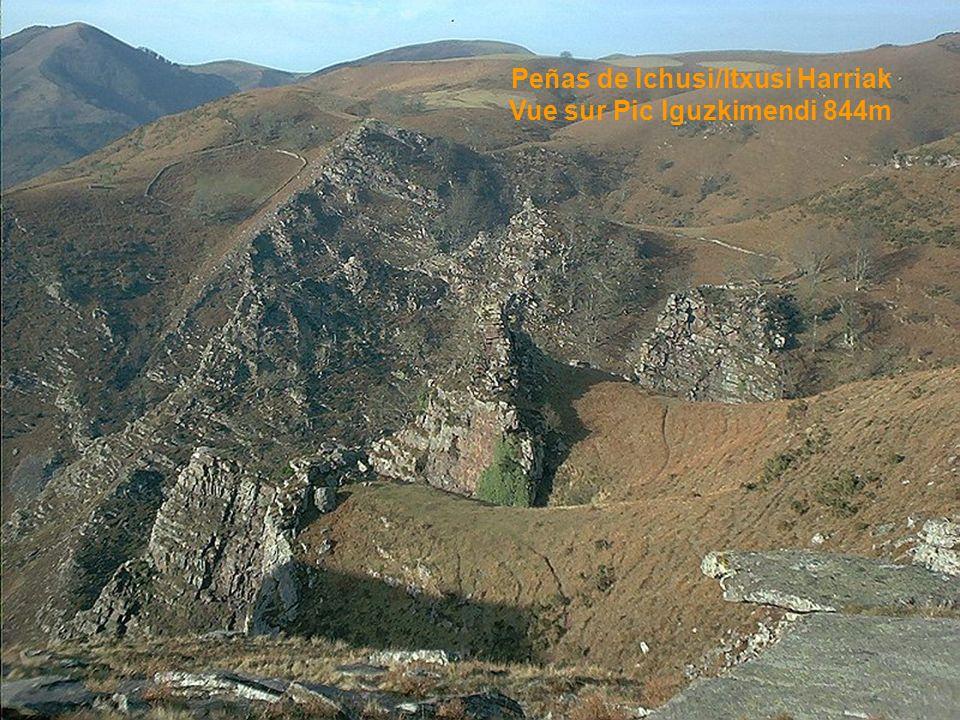 Ahusquy/Ahüzki 980m Vue sur le Pic d Anie/Auñamendi 2507m