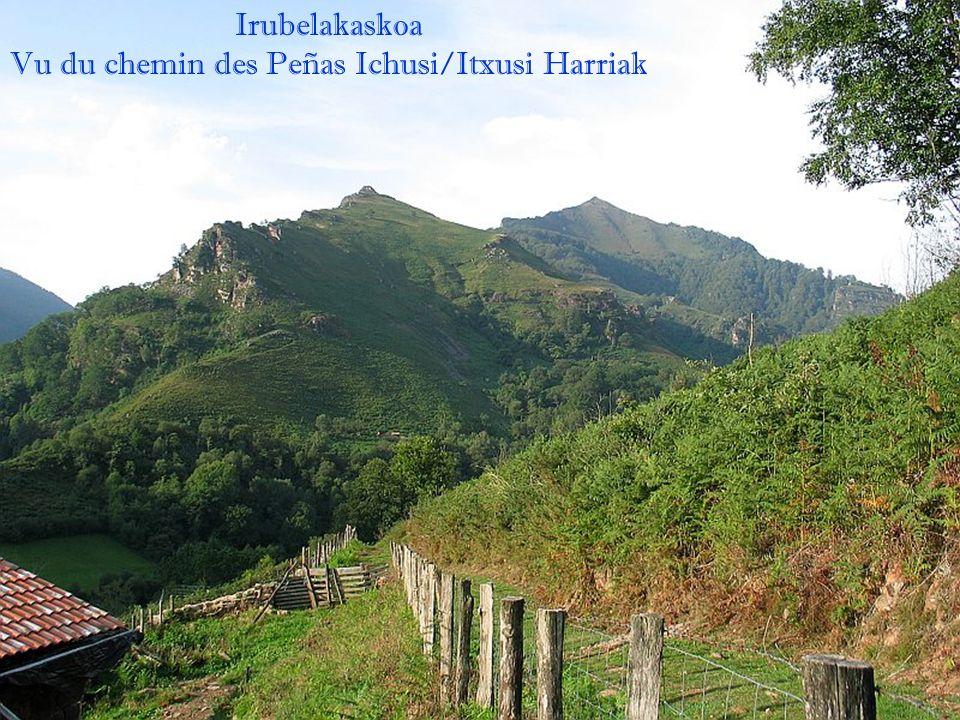 Cascade Peñas Ichusi Vue sur Iguzki 844m