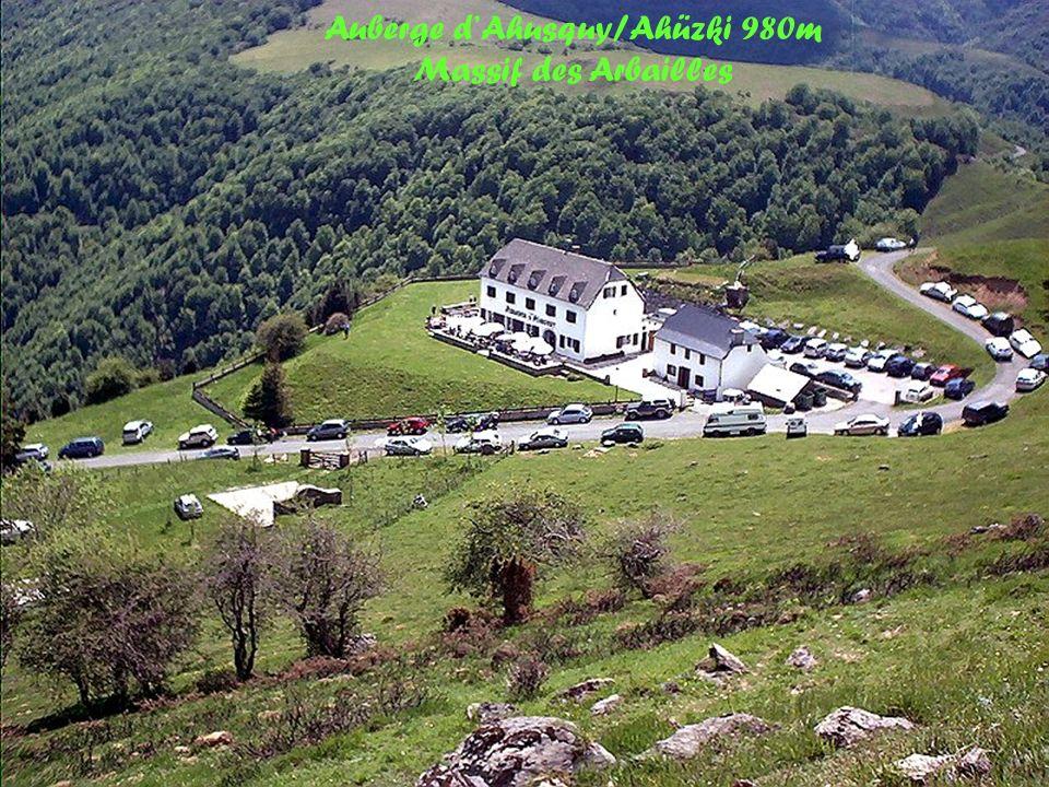 Pic dOrhy/Ori et massif des Arbailles/Arbaileta Oihana Vu dAhusquy/Ahüzki 980m