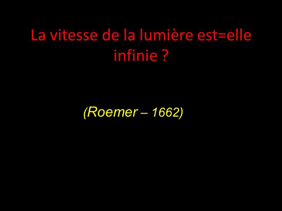 La vitesse de la lumière est=elle infinie ? ( Roemer – 1662)