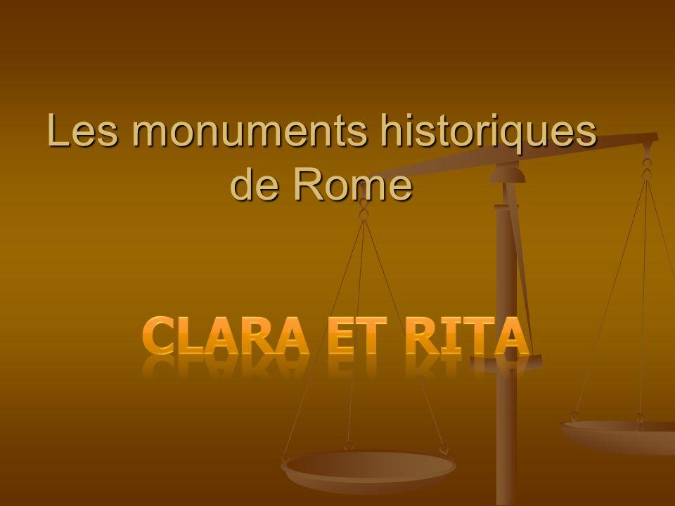 Les monuments historiques de Rome
