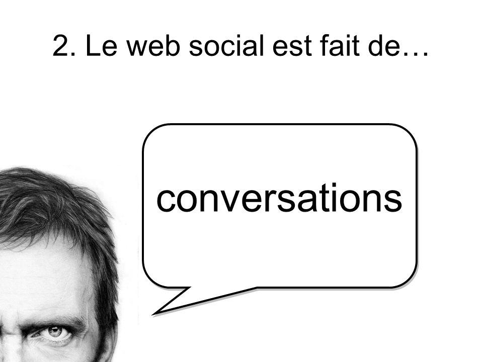 2. Le web social est fait de… conversations