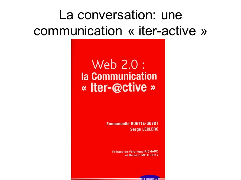 La conversation: une communication « iter-active »