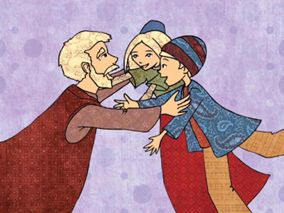Pendant que la sorcière brûlait, elle courut vers la petite étable et dit : « Hansel, nous sommes libres .
