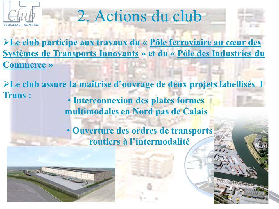 2. Actions du club Le club participe aux travaux du « Pôle ferroviaire au cœur des Systèmes de Transports Innovants » et du « Pôle des Industries du C