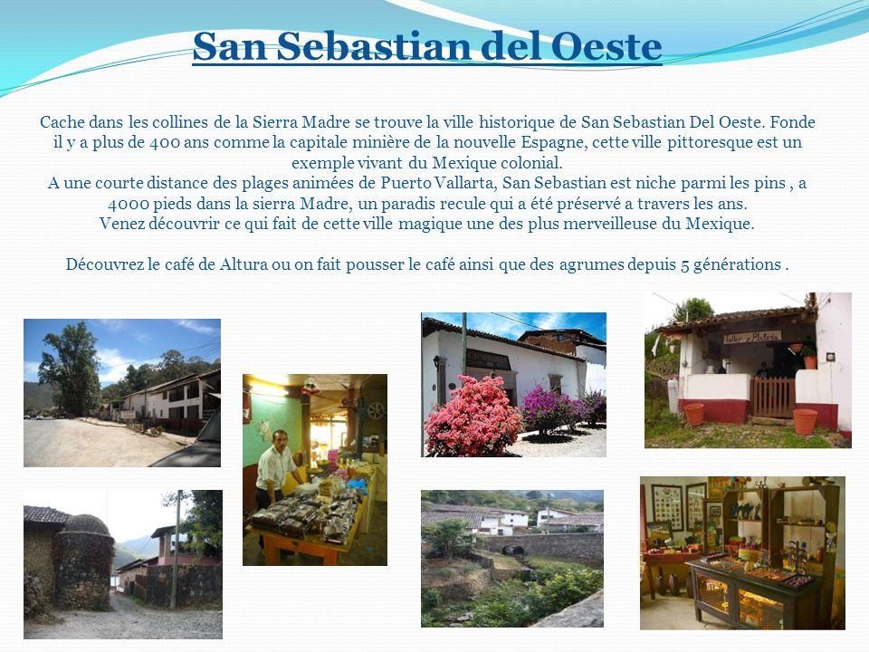 ! San Sebastian del Oeste Cache dans les collines de la Sierra Madre se trouve la ville historique de San Sebastian Del Oeste. Fonde il y a plus de 40