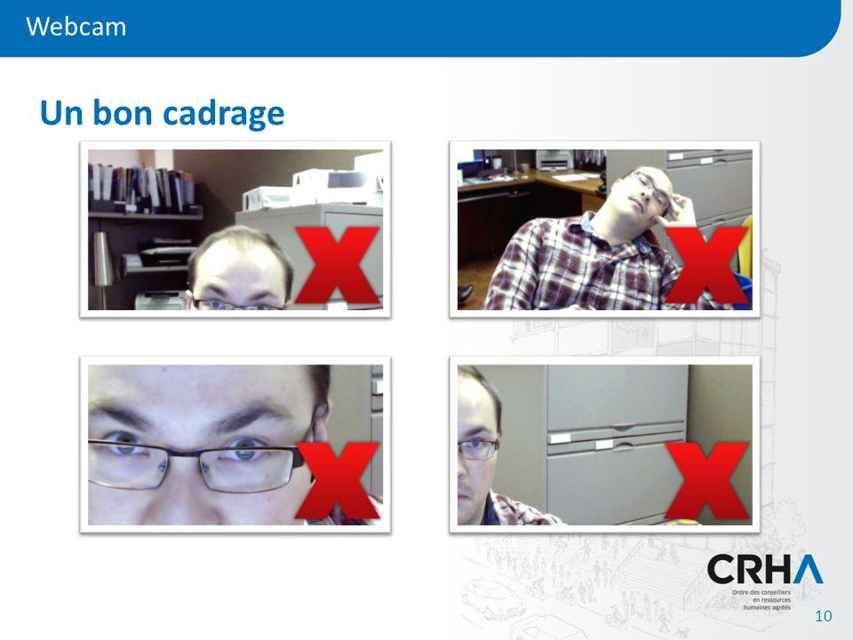 Webcam 10 Un bon cadrage