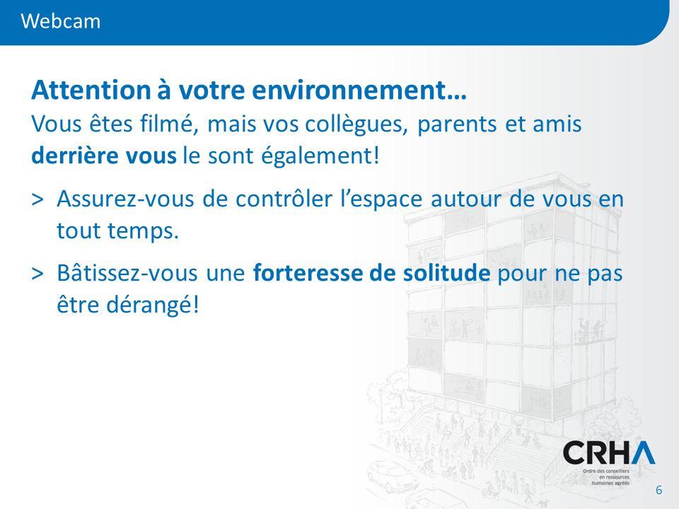Webcam 7 Attention à votre environnement…