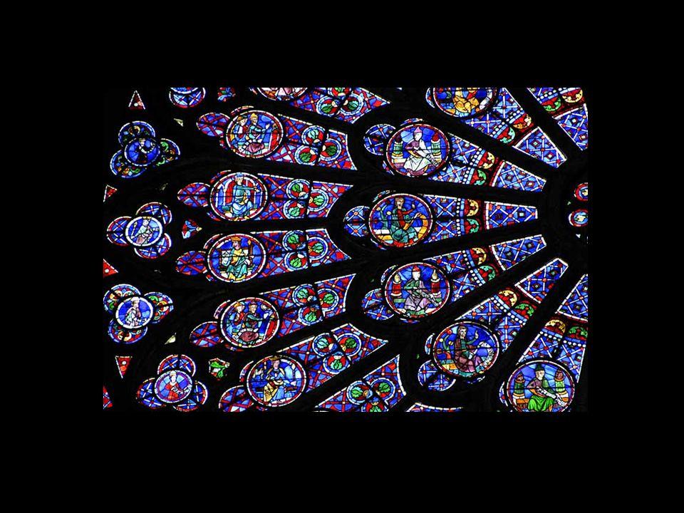 Détail du vitrail de la chapelle latérale sud
