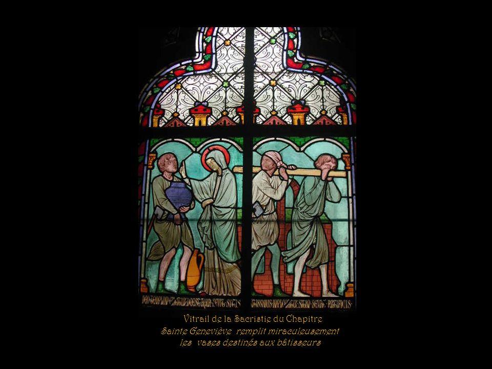 Vitrail de la Sacristie du Chapitre Sainte Geneviève rend la vue à deux aveugles