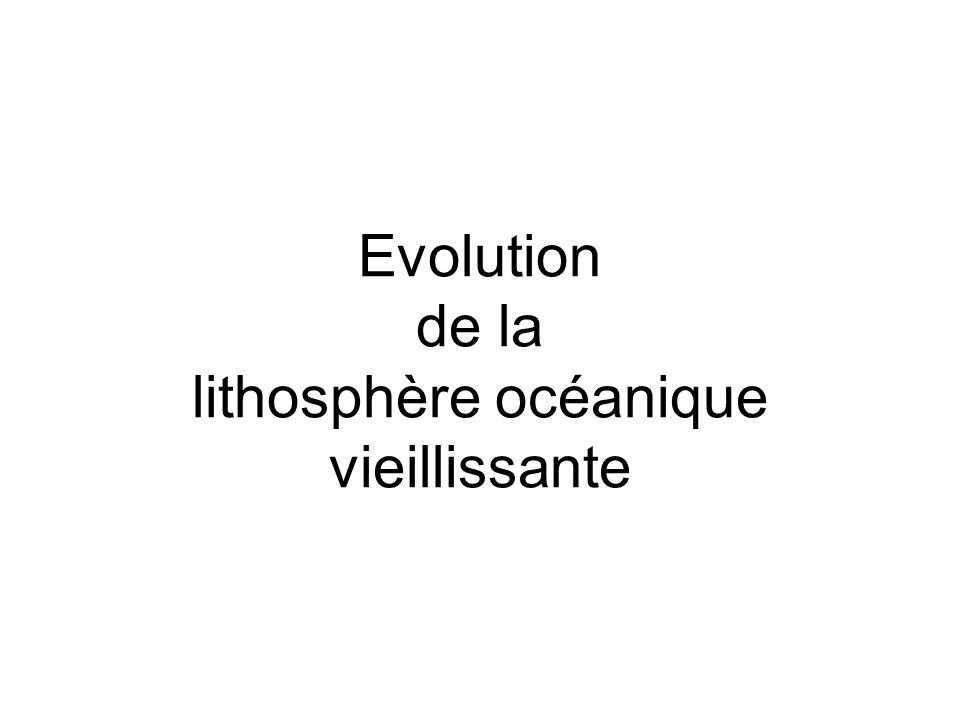 Evolution de la lithosphère océanique vieillissante