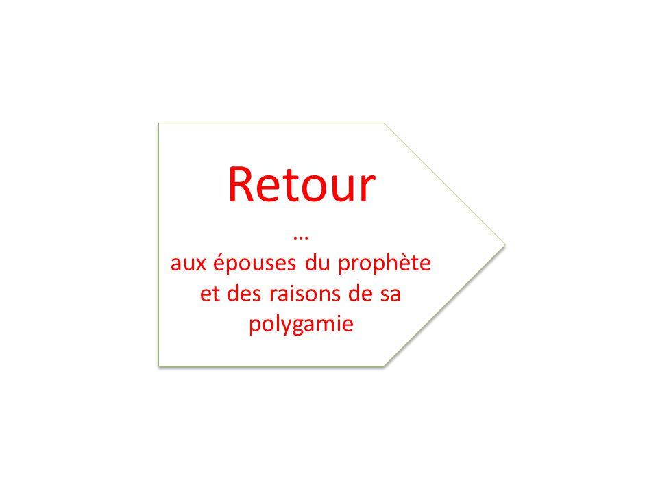 Retour … aux épouses du prophète et des raisons de sa polygamie Retour … aux épouses du prophète et des raisons de sa polygamie