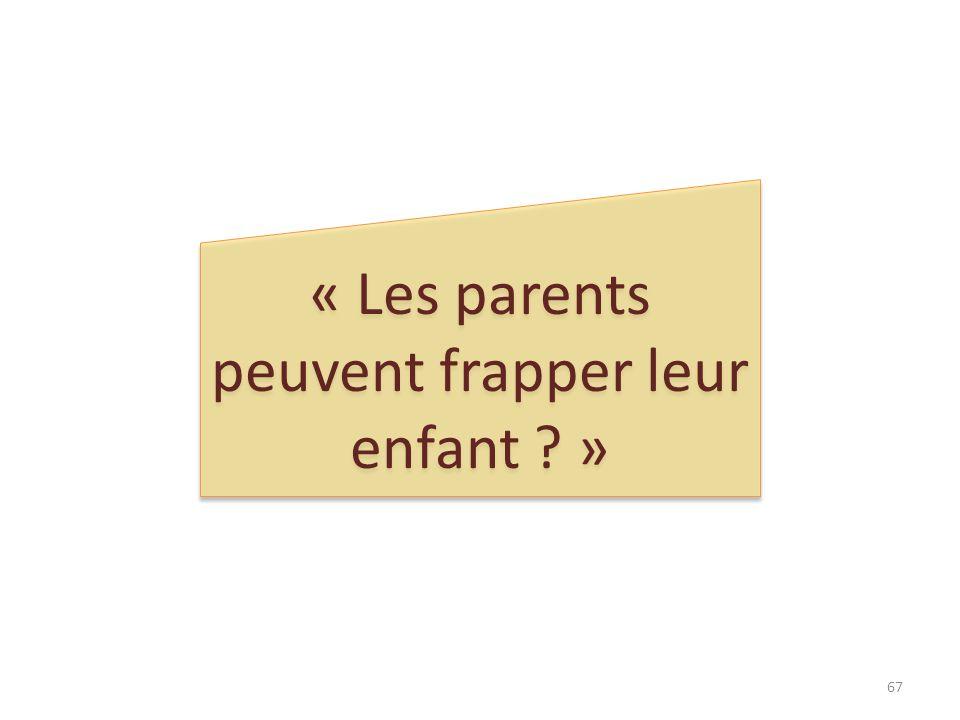 « Les parents peuvent frapper leur enfant ? » 67