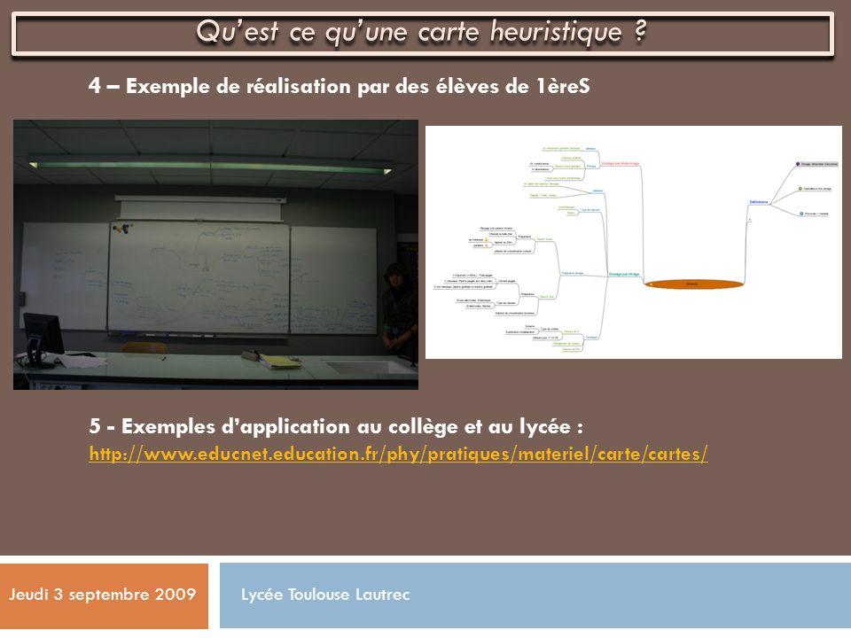 4 – Exemple de réalisation par des élèves de 1èreS 5 - Exemples dapplication au collège et au lycée : http://www.educnet.education.fr/phy/pratiques/ma