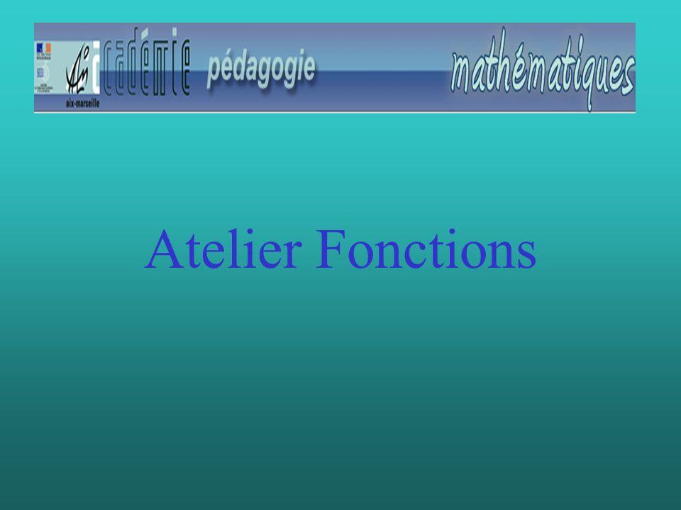 Atelier Fonctions