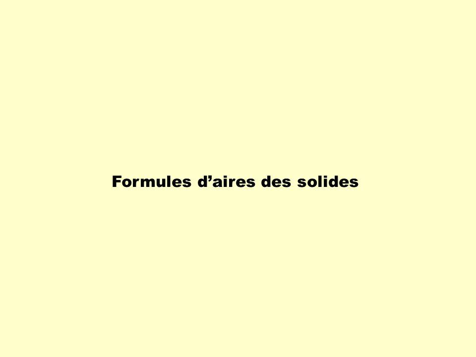 Formules daires des solides