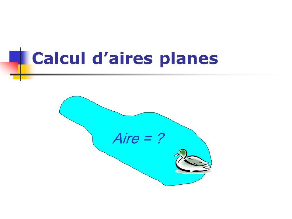 Calcul daires planes Aire = ?