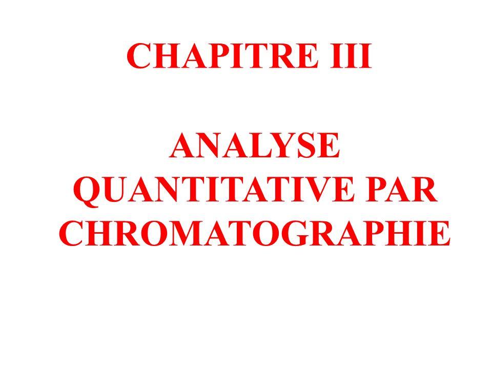 ANALYSE QUANTITATIVE PAR CHROMATOGRAPHIE CHAPITRE III