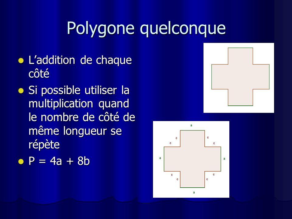 Laire Laire cest la surface dun polygone Laire cest la surface dun polygone Donc le gazon Donc le gazon Formule de base: A = b x h