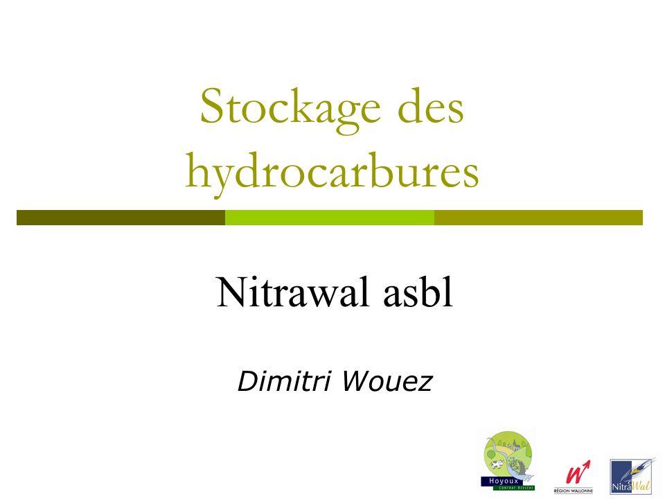 Stockage des hydrocarbures Nitrawal asbl Dimitri Wouez