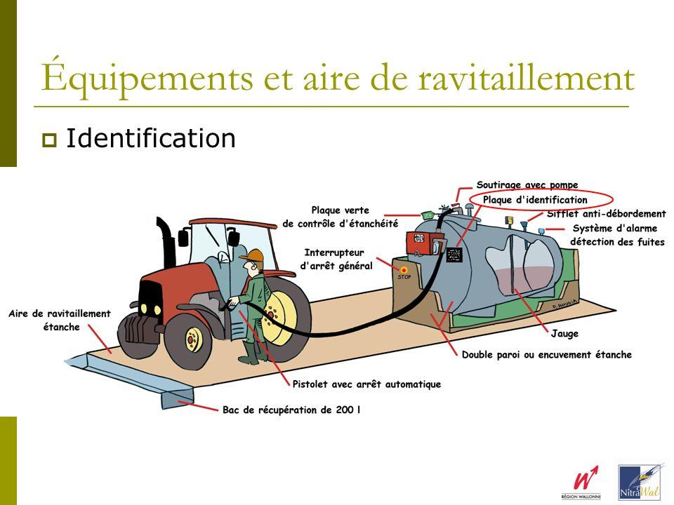 Équipements et aire de ravitaillement Identification