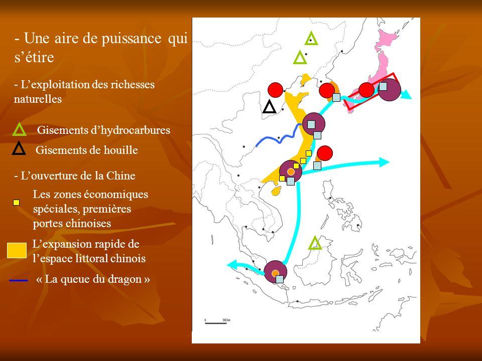 - Lexploitation des richesses naturelles Gisements dhydrocarbures Les zones économiques spéciales, premières portes chinoises - Louverture de la Chine