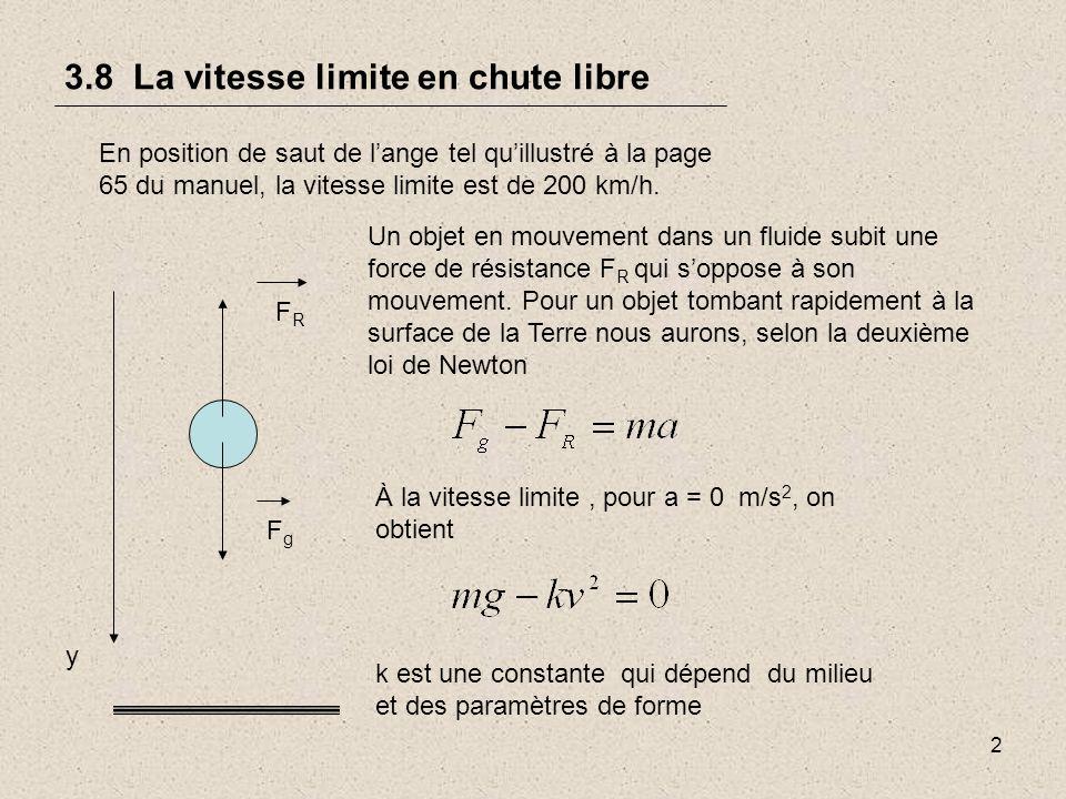 2 3.8 La vitesse limite en chute libre En position de saut de lange tel quillustré à la page 65 du manuel, la vitesse limite est de 200 km/h.
