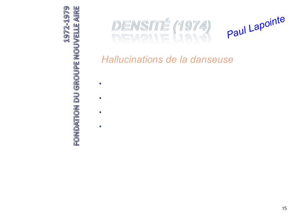 15 Paul Lapointe Hallucinations de la danseuse êtres qui émergent dun mur collants oranges, manches chauve-souris cagoules influence de Nicolaïs
