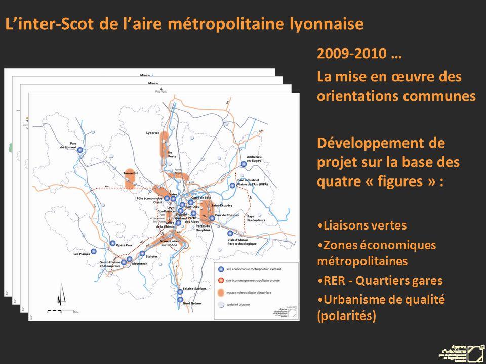 Linter-Scot de laire métropolitaine lyonnaise 2009-2010 … La mise en œuvre des orientations communes Développement de projet sur la base des quatre «