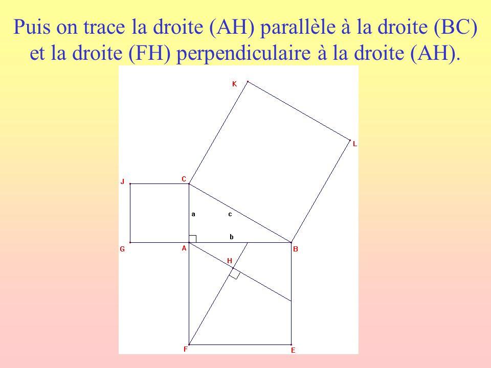 Peut-on reconstituer le carré BCKL à laide du carré ACJG et des quatre polygones découpés dans le carré ABEF.