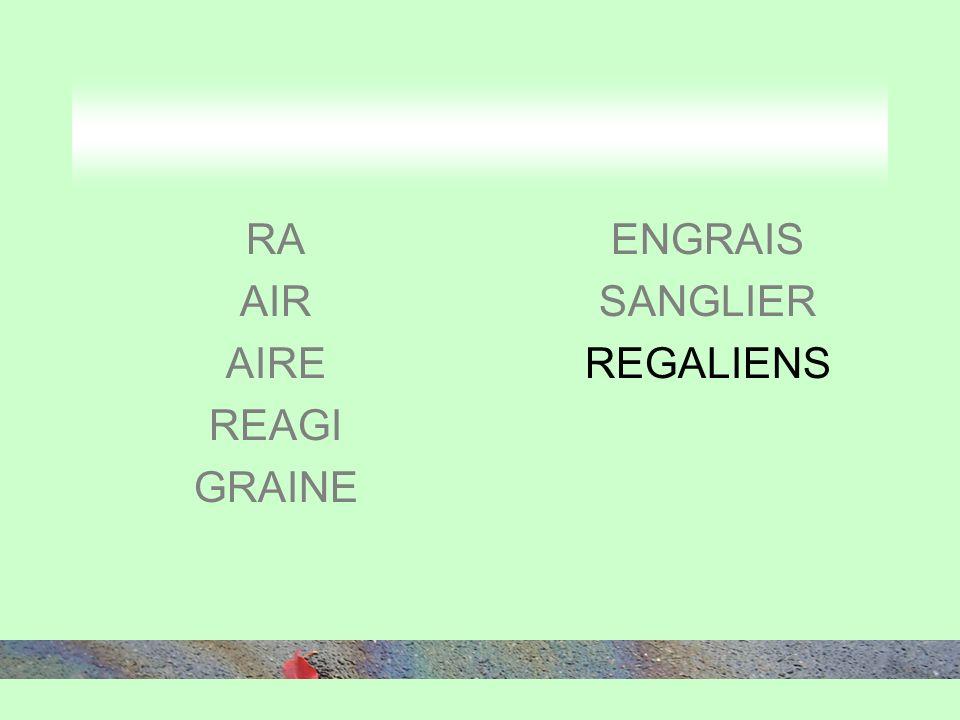 RA AIR AIRE REAGI GRAINE ENGRAIS SANGLIER REGALIENS