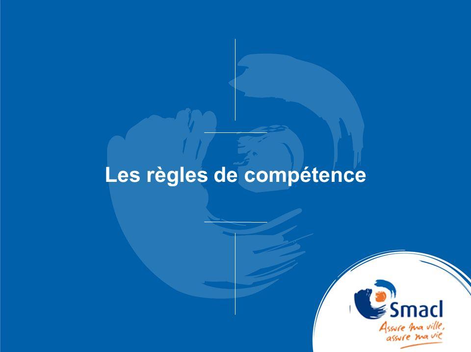 Les règles de compétence