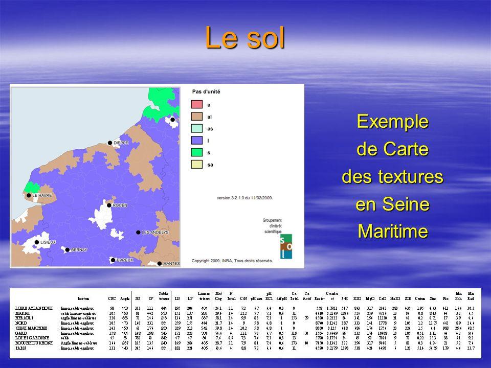 Le sol Exemple de Carte des textures en Seine Maritime