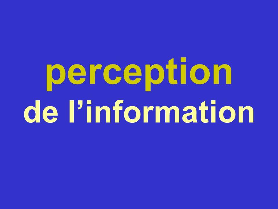 perception de linformation