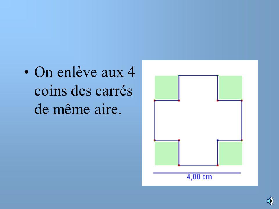 Un carré de 4 cm de côté
