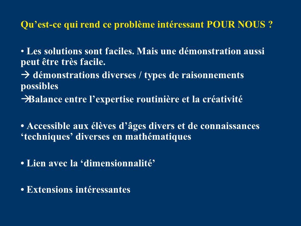 Évaluation des démonstrations Les étudiants ont classé les démonstrations (factorisation, dalles, fractions unitaires, graphique, tableau) allant de la meilleure (= 1) à la pire (= 5).
