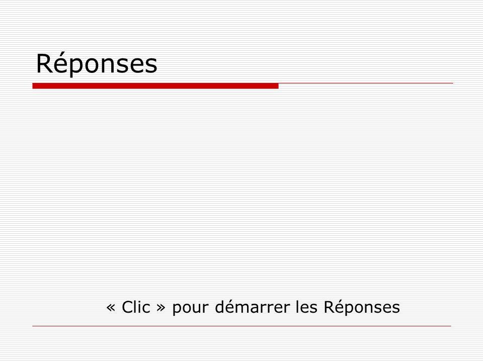 Réponses « Clic » pour démarrer les Réponses