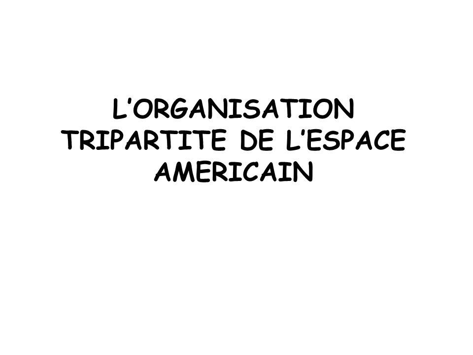 LORGANISATION TRIPARTITE DE LESPACE AMERICAIN