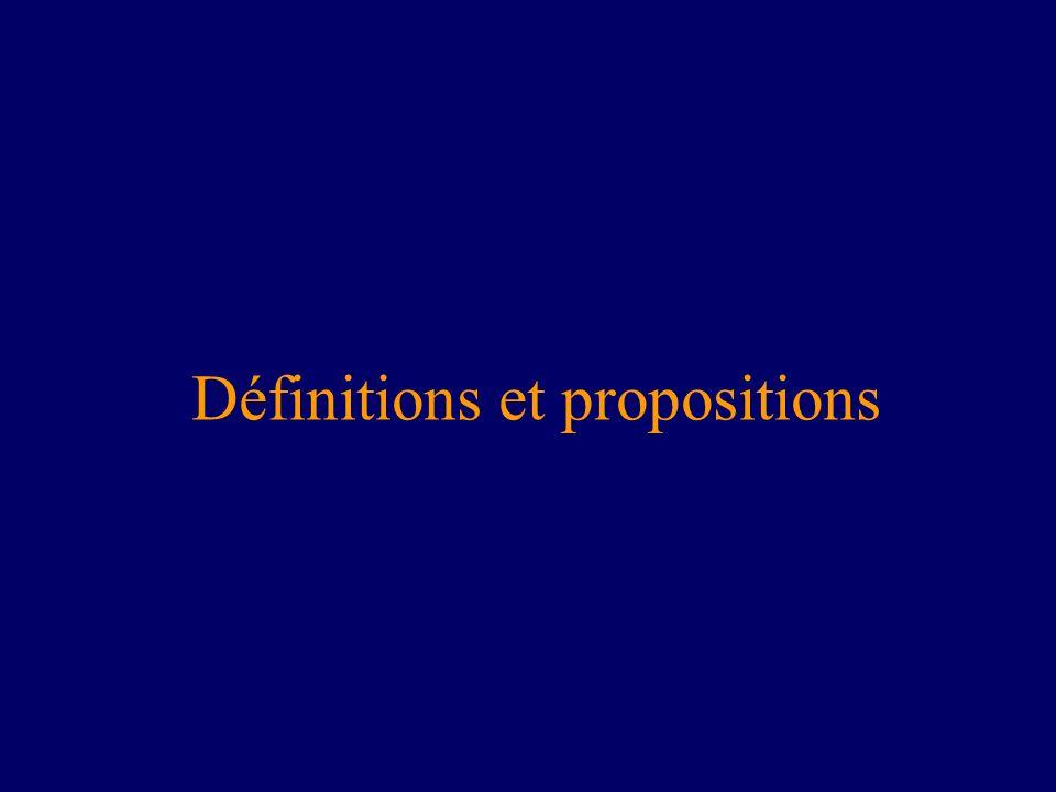 Définitions et propositions