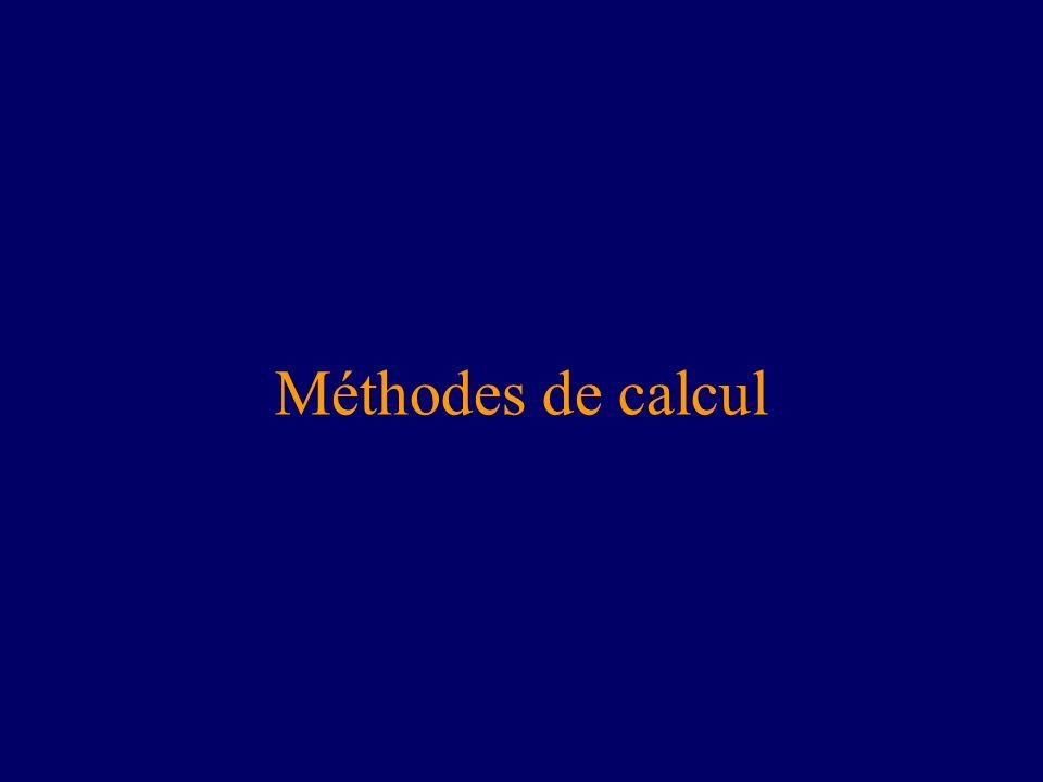 Méthodes de calcul