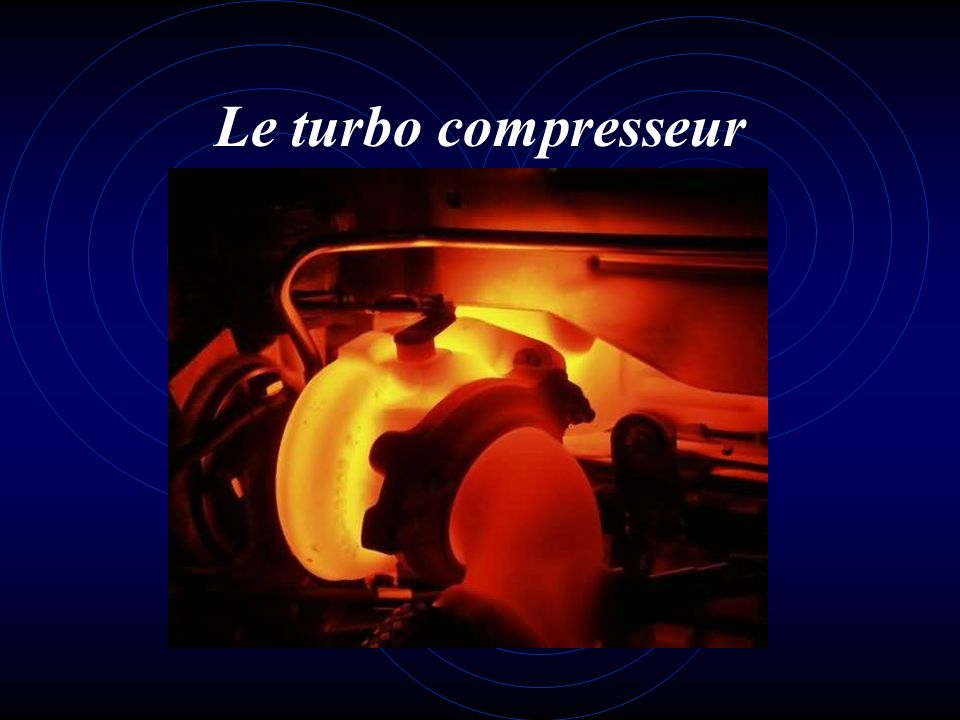 Le turbo compresseur