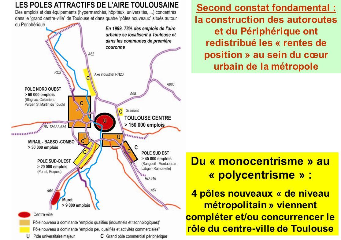 Second constat fondamental : la construction des autoroutes et du Périphérique ont redistribué les « rentes de position » au sein du cœur urbain de la