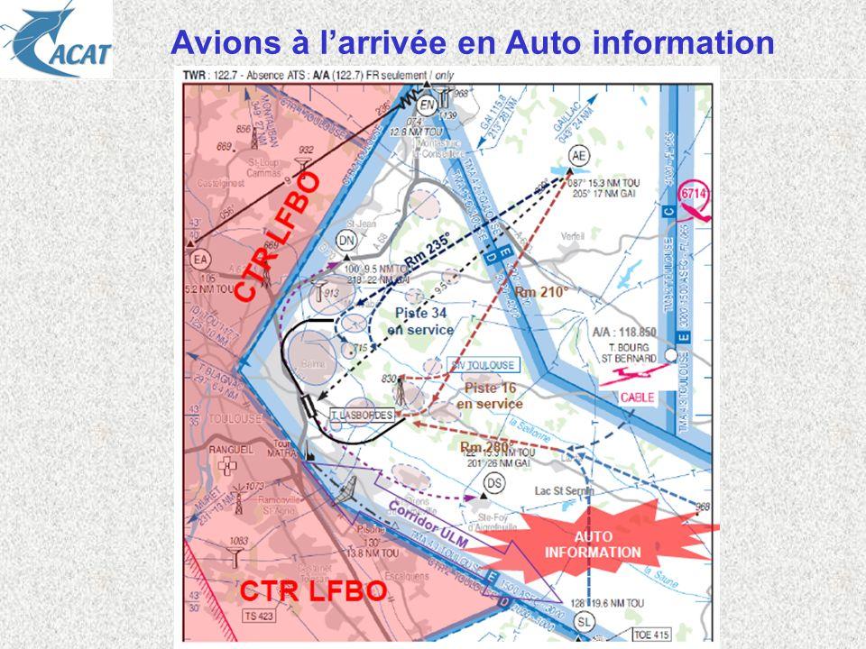 Avions à larrivée en Auto information
