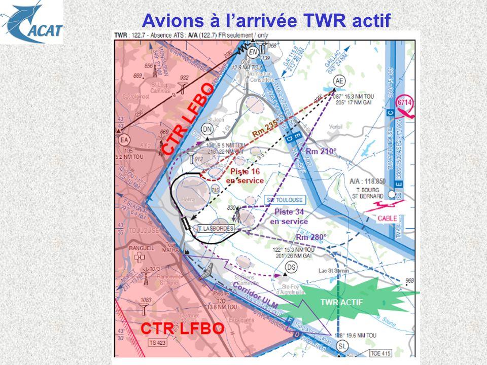 Avions à larrivée TWR actif