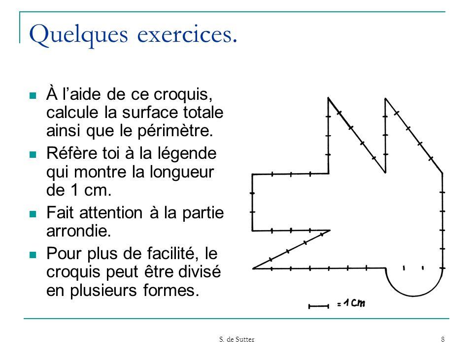 S.de Sutter 8 Quelques exercices.